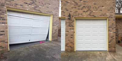 garage door out of track